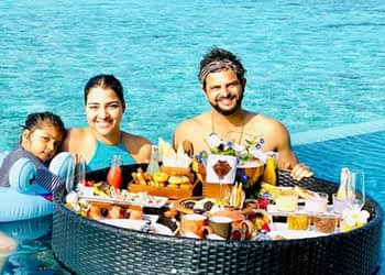 Suresh Raina Enjoys 34th Birthday with Family in Maldives; See Pics of their Lavish Breakfast