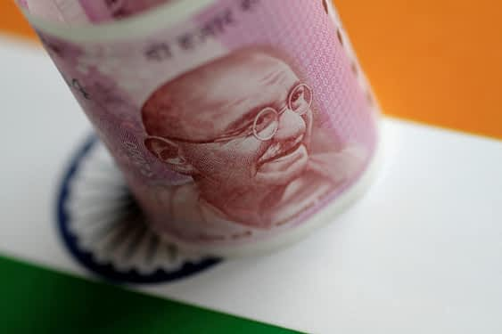 An India Rupee note is seen in this illustration photo. (Reuters)