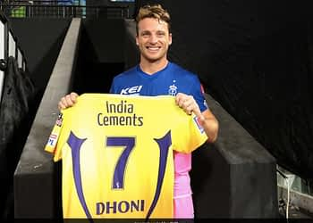 IPL 2020, CSK vs RR: Jos Buttler Gets MS Dhonis CSK Jersey As