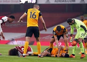Raul Jimenez Suffered Fractured Skull In Horror Collision vs Arsenal: Wolves