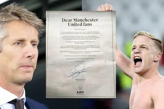 Edwin van der Sar's letter to Manchester United fans after Donny van de Beek transfer (Photo Credit: Twitter and AP)