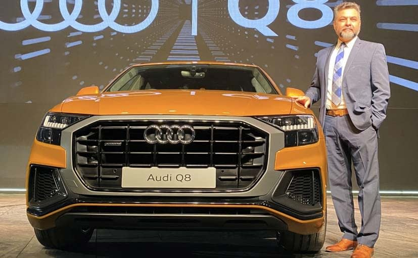 Ballbir Singh Dhillon, Head, Audi India at the launch of the Q8 in January 2020
